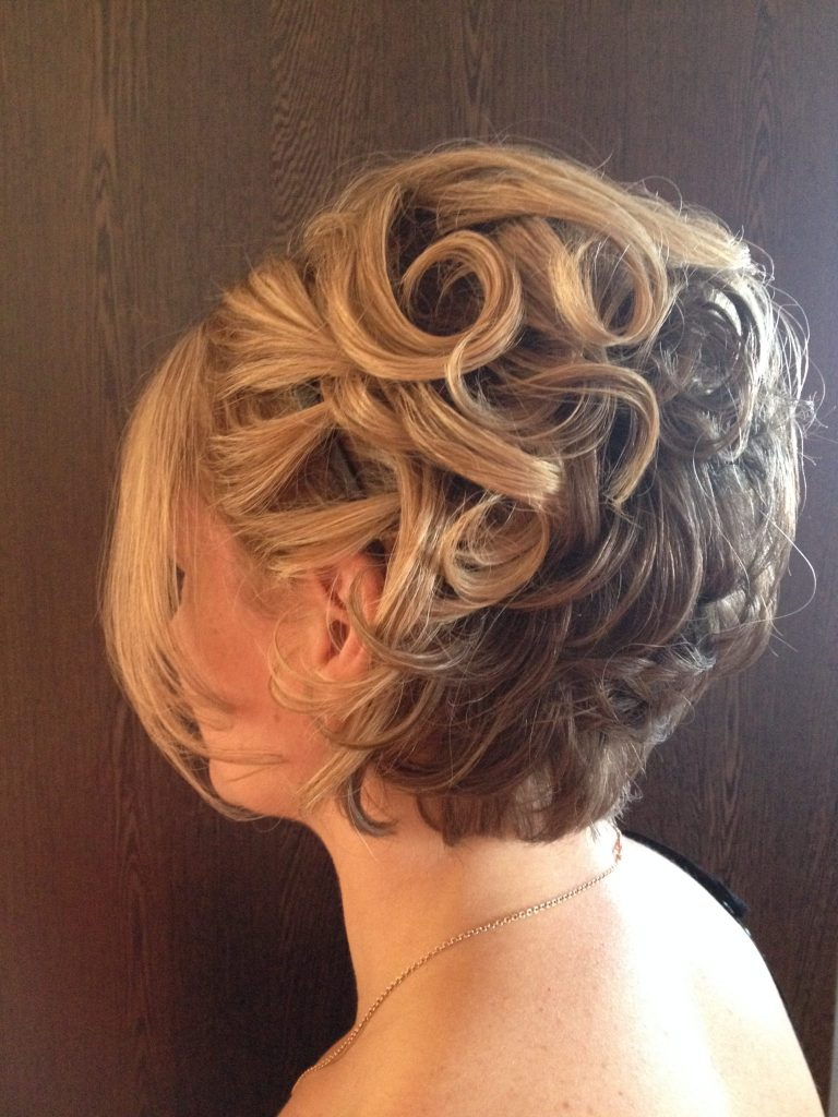 Short hair upstyle by Tanya - Mobile Makeovers